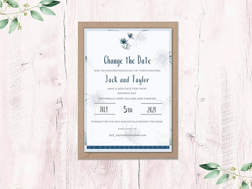 Change the date card Abstract Thistle Collection