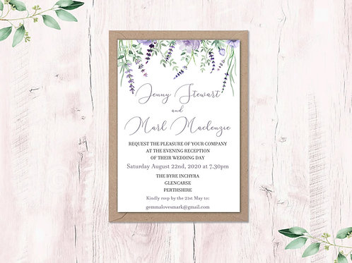 Lavender Evening Invite