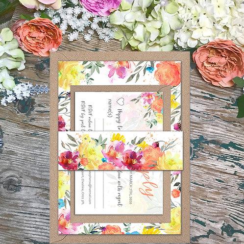 Citrus wedding invitations