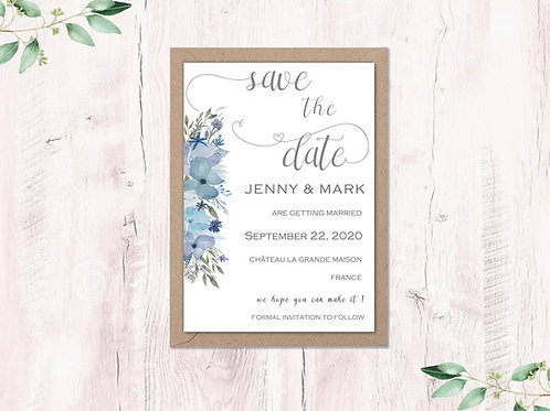 Blue Hazy Day Save the Dates