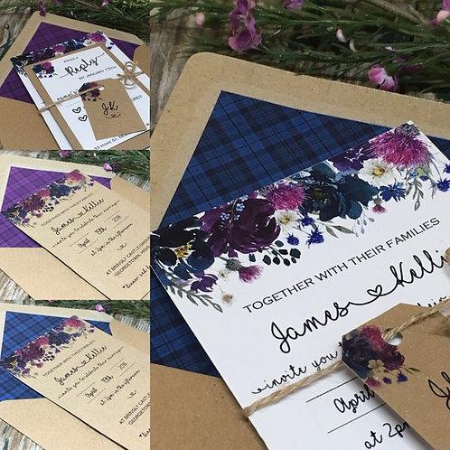 Scottish Spring Wedding Invitation