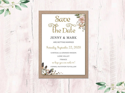 Steampunk Save the Dates