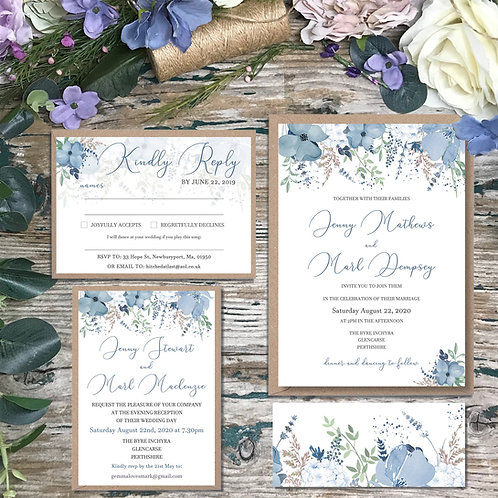 Blue and Navy Wedding Invitations 2020 collection