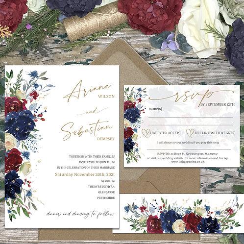 Hazy Winter Wedding Invitations