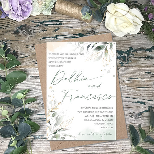 Sage Garden Wedding Invitations