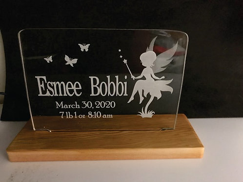 Sitting Fairy Custom Birth Date