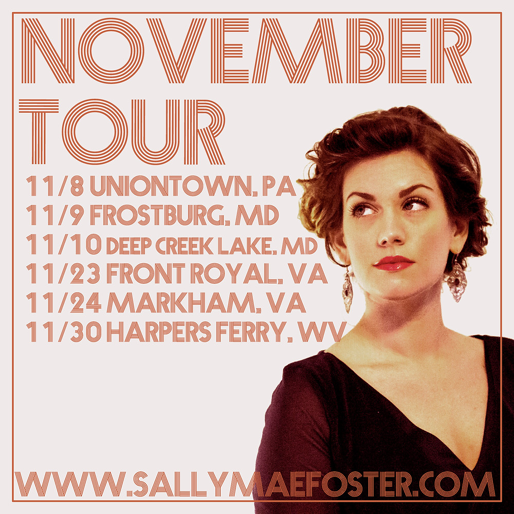 Sally Mae's November tour dates in 2019