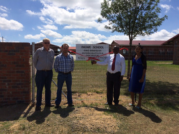 Southern Coal Directors and Ingwe Head of School In Front of New Perimeter Fence
