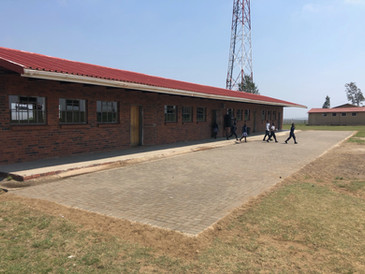Section of New Paving Laid for Ingwe School
