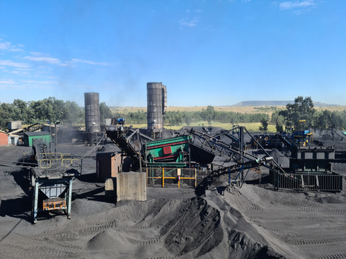View Showing Screening and Crushing Plants