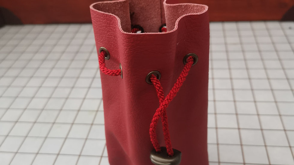Clearance red leather bag