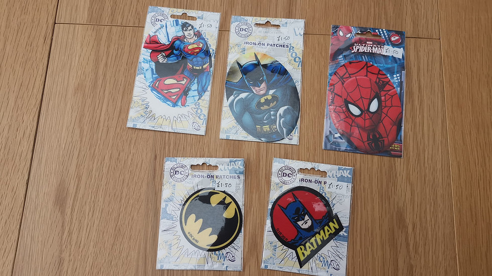 Official DC & Marvel iron -on patches