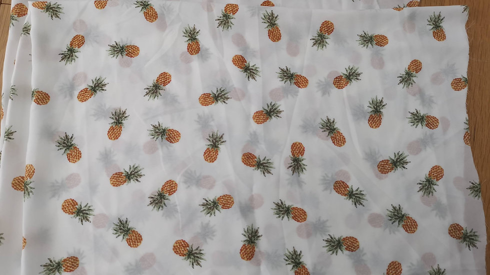 Pineapple Georgette 1m length