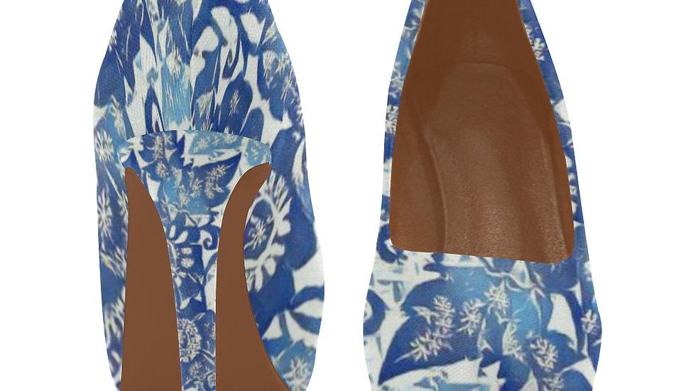 Frosty Floral design Ladies Stiletto