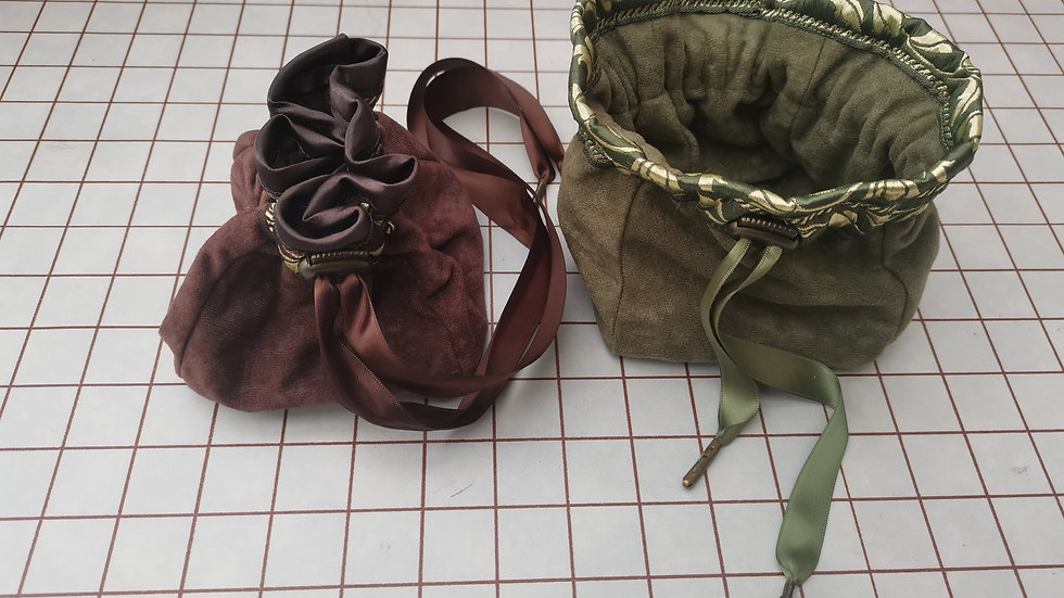 Ready to send Faux Suede LARP /Dice bags