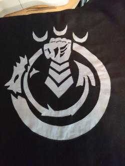 Custom tabbard emblem in applique