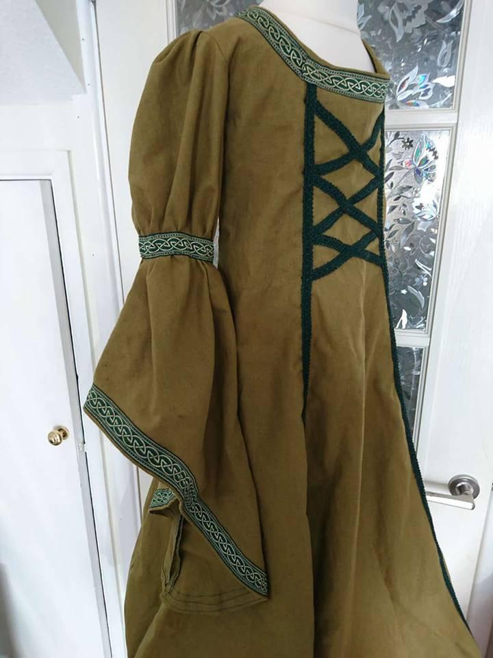 Child's linen medieval dress
