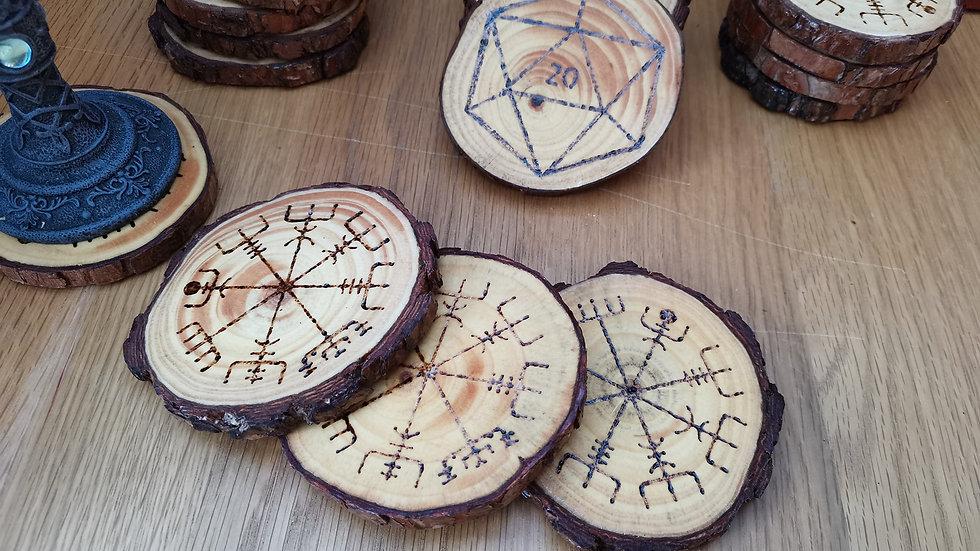 Natural Wood slice coasters - set of 4