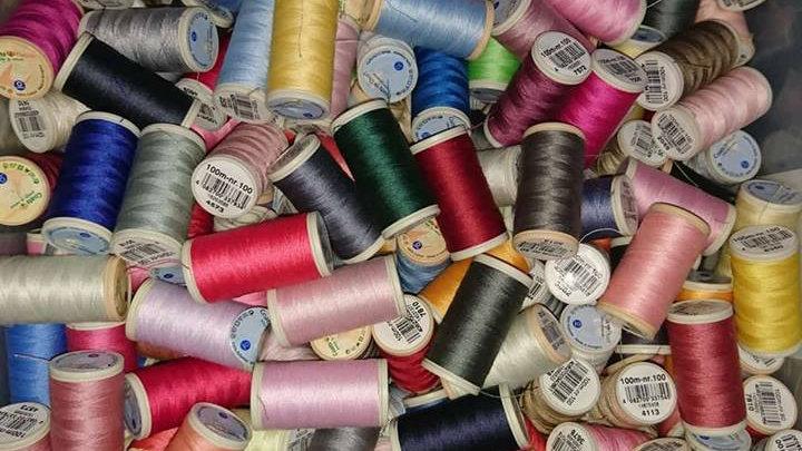 Limted offer - 10 Coats Cotton  /Coat Duet 100m reels - random colour selection