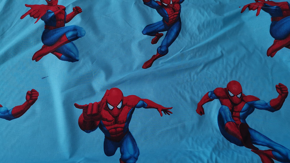 Licensed Spiderman 100% cotton per metre