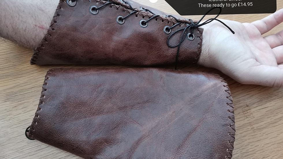 Simple Leather Wrist Bracers