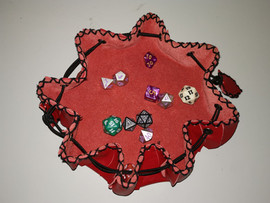 Leather rolling tray dice bag