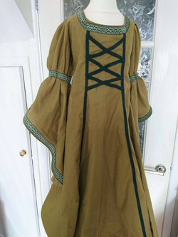 Child's linen medieval LARP dress