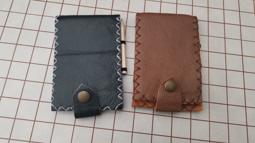 Ready to send Leather jotter holder with notepad and pencil