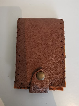flip notebook cover in realleather. handmade