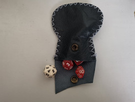 small leather dice bags for 1 set of dice plus extra D20