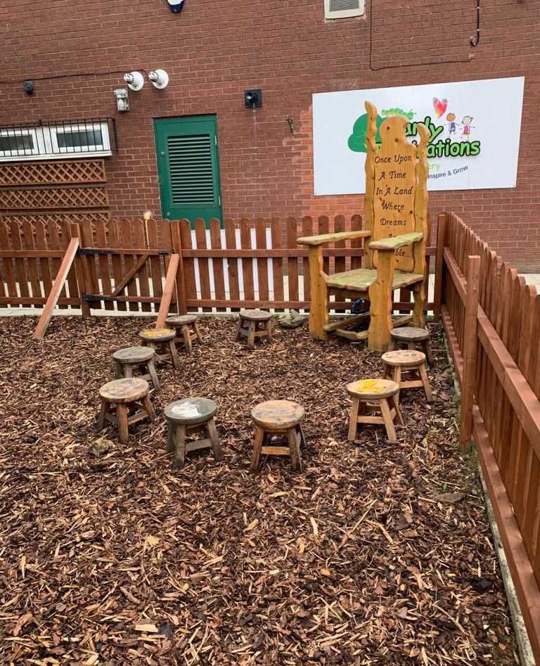 Natural Large  Outdoor play area nursery