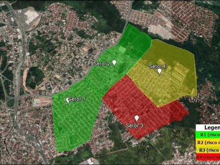 Mapeamento de áreas de risco de inundação