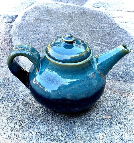 Textured Turquoise + Obsidian Teapot