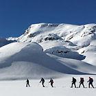 Gruppe Schneeschuhwandern