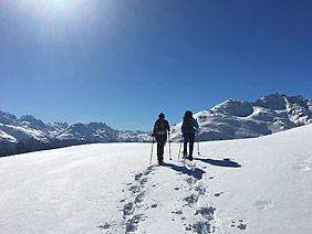 Schneeschuhtour Schneeschuhlaufen Engadin