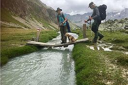 Val Mera Brücke Weitwandern