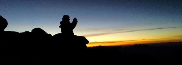 Nachtwanderung Morgendämmerung Engadin