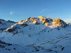 Schneeschuhtour Morgenrot Engadin St. Moritz