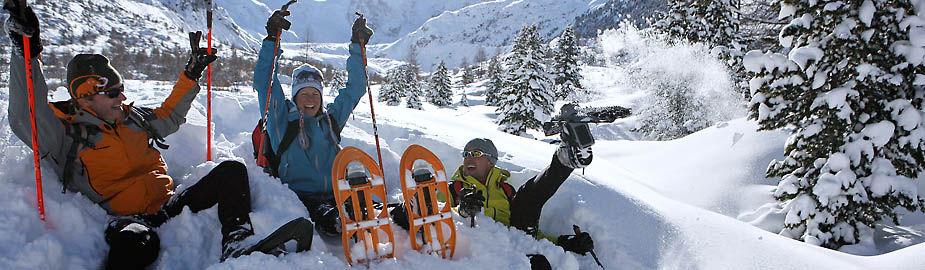 Schneeschuh Spass im Engadin