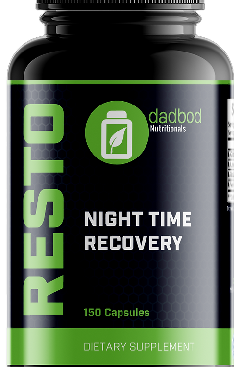 RESTO PM Recovery Nighttime Post-Workout Formula (150 Capsules)