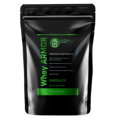 dadbod nutritionals whey armor chocolate
