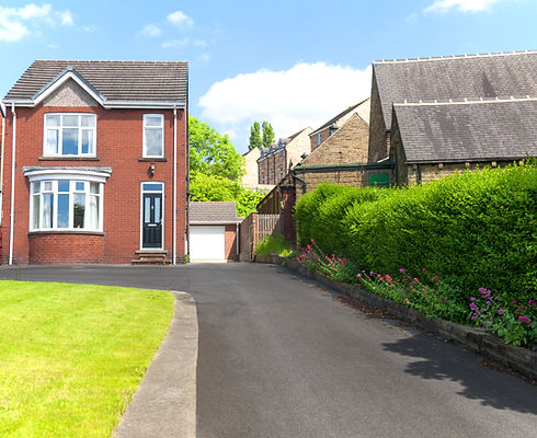 Typical English single family house buil