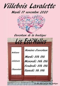 flyer  boutique Les Esti'Halles