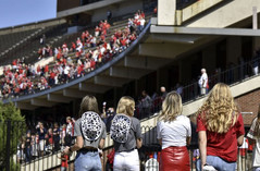 Fans outside the first WKU football game of the 2020 season.