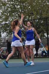 CHS Girls Tennis, Katelyn Conley (left) and Franny Werner