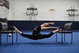 Rhythmic gymnast Sophia Gilliam