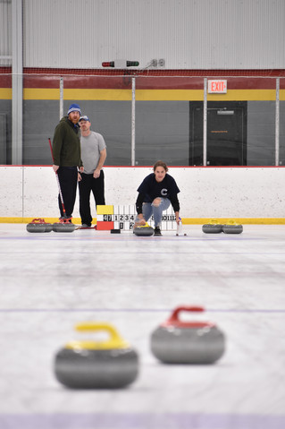 CHS Curling Club, Claire VanMeter (right)