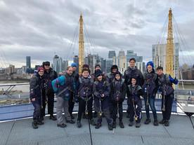 Scouts climb the O2