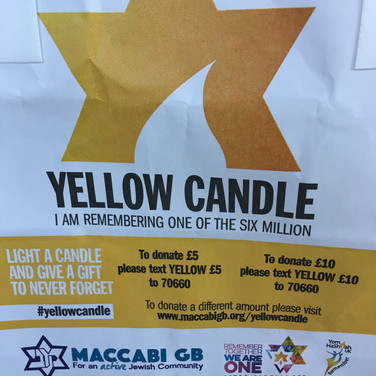 Bag of yellow candle