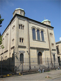 Back of the shul